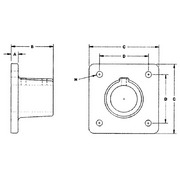 28470 no 45sbc square floor flange for rail fitting from for 1 inch square floor flange