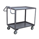 Model ES - 2 Shelf 1200 lb Capacity Service Carts with Ergonomic Handles