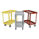 "Welded Stock Carts with 1-1/2'' Deep Shelves 18"" Wide"