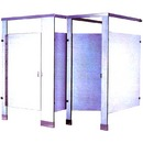 Solid Phenolic Floor Mounted & Overhead Braced Toilet Partitions