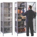 All-Welded Visible Mesh Storage Cabinet