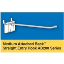 Medium Attached Back Straight Entry Hooks - Trion Industries, Inc.