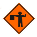Reflective Flagman Sign