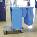 Escort® Epoxy Coated Microfiber Cart W/Double Bag Handle