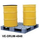 Plastic Drum Pallet & Low Profile Spill Decks