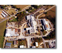 Aerial view of GIW's manufacturing facility in Thomson, GA