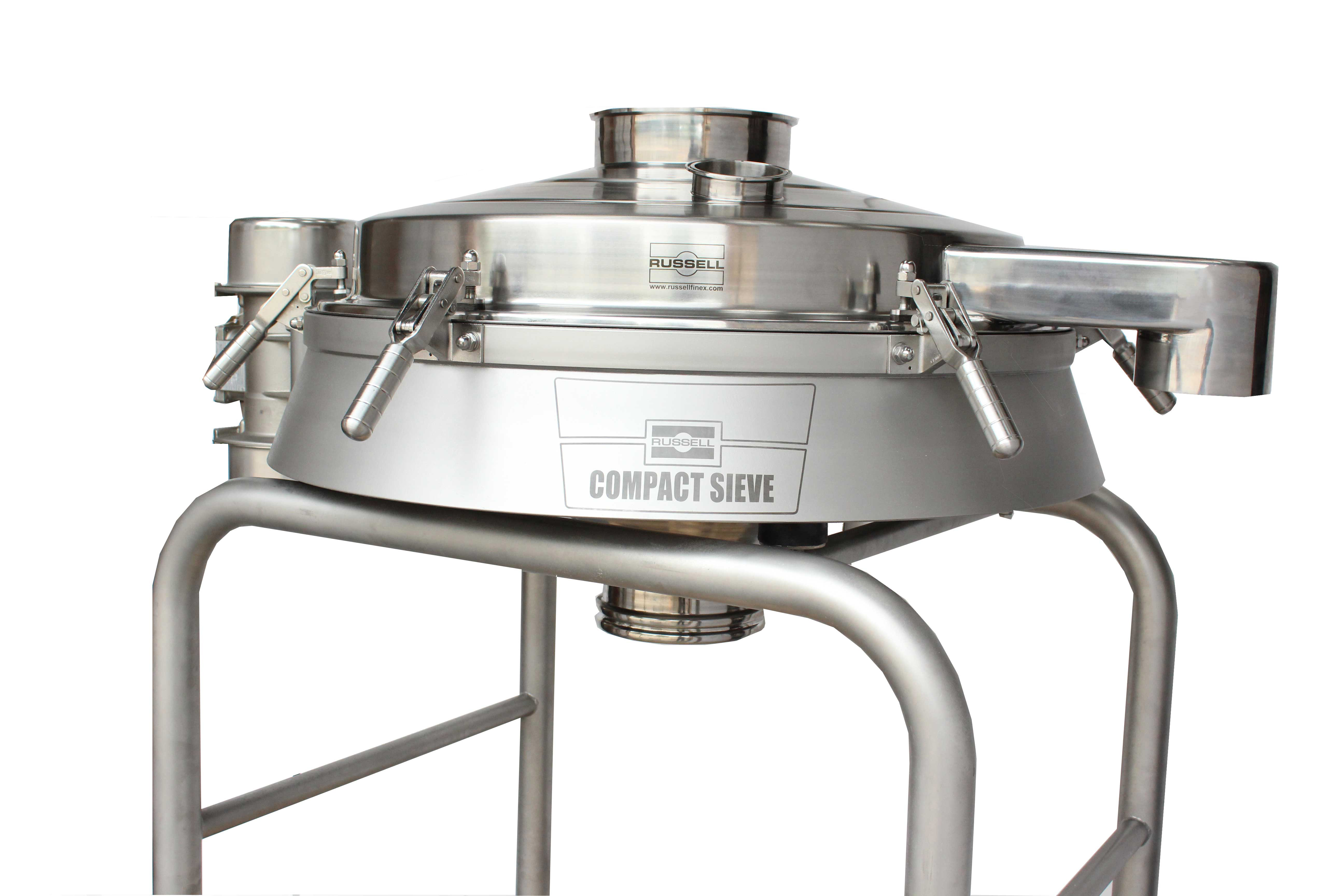 The hygenic design of the Compact Sieve meets the requirements of the 3-A sanitary standards