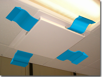 how to fix ceiling air duct