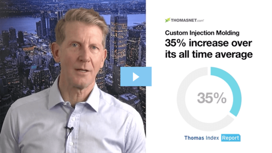 Thomas CEO Tony Uphoff speaking in a video format on recent trends in Custom Injection Molding