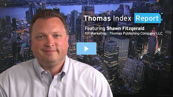 Thomas VP of Marketing Shawn Fitzgerald in a video presentation of the Thomas Index report
