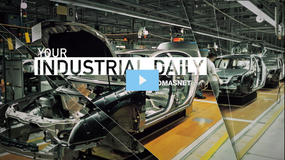 Automobile frames on an automotive assembly line