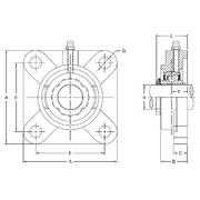gshf silver series 4-bolt flange bearings from p.t ... 1996 f250 water pump bolt diagram wiring schematic