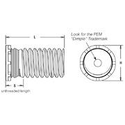 Pem Low-Displacement Head Studs Unified Types FHL//FHLS FHLS-032-10