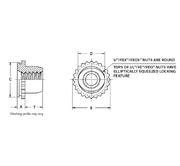 FEX-832 Unified FEO Types U Pem Miniature Self-Clinching Fasteners FE FEX FEOX UL