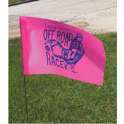 P586W 36 Inch (in) Staff Length Vinyl Printed Flag with Wire