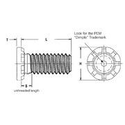 Pem Self-Clinching High-Strength Studs Type HFH//HFHS//HFHB HFH-M8-35ZI Metric