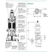 WG30-43-25 Standard 3 HP Submersible Grinder Pumps from Rapid Pump