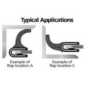 1102 1350 and 1375 Series Flap Seal Flexible Polyvinyl Chloride (PVC