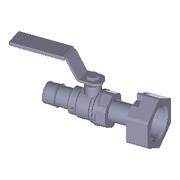 WS4821000 ProPEX LF Brass Straight Water Meter Valve Connector, 1