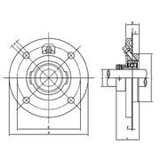 flange bolt diagram rvfw 200 silver series piloted 4-bolt flange bearings from ...