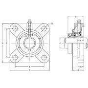 clf205-16 clf 200 silver series 4-bolt flange bearing from ... dead bolt diagram