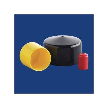 Inside Height High Temp Black Vinyl Caps 3//4 1 Inner Diameter