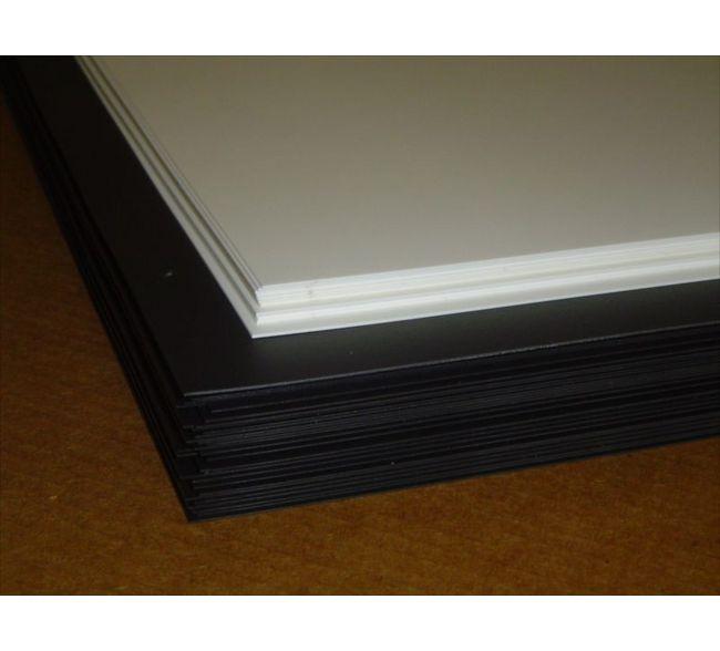 "BLACK POLYSTYRENE PLASTIC SHEET 0.030/"" 24/"" X 48/"" VACUUM FORMING ^"