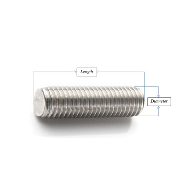 Zinc Plated Steel Fully Threaded Rod Made in US 12 Length Right Hand Threads 1//2-13 Thread Size