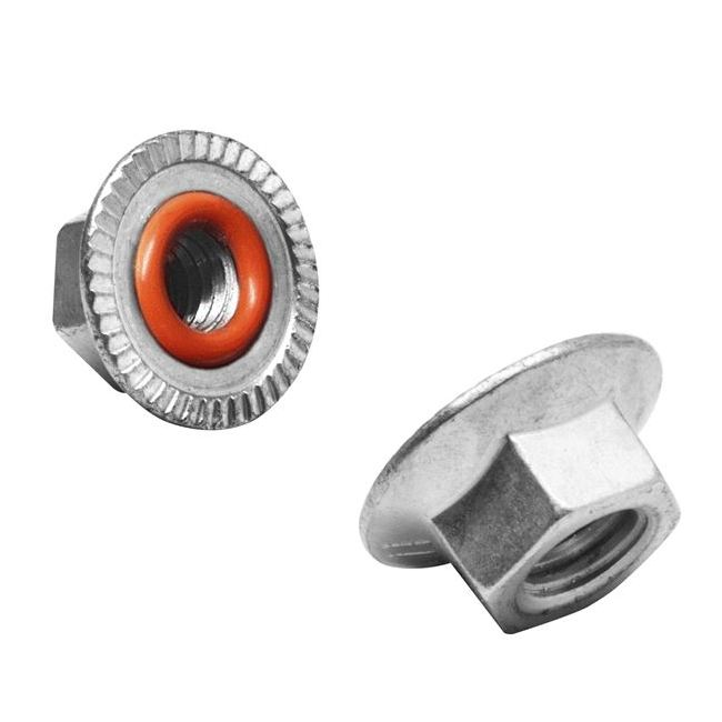 1//2-20 12 Point Nuts Self Locking Extended Washer Flange Locknuts 10 pcs.