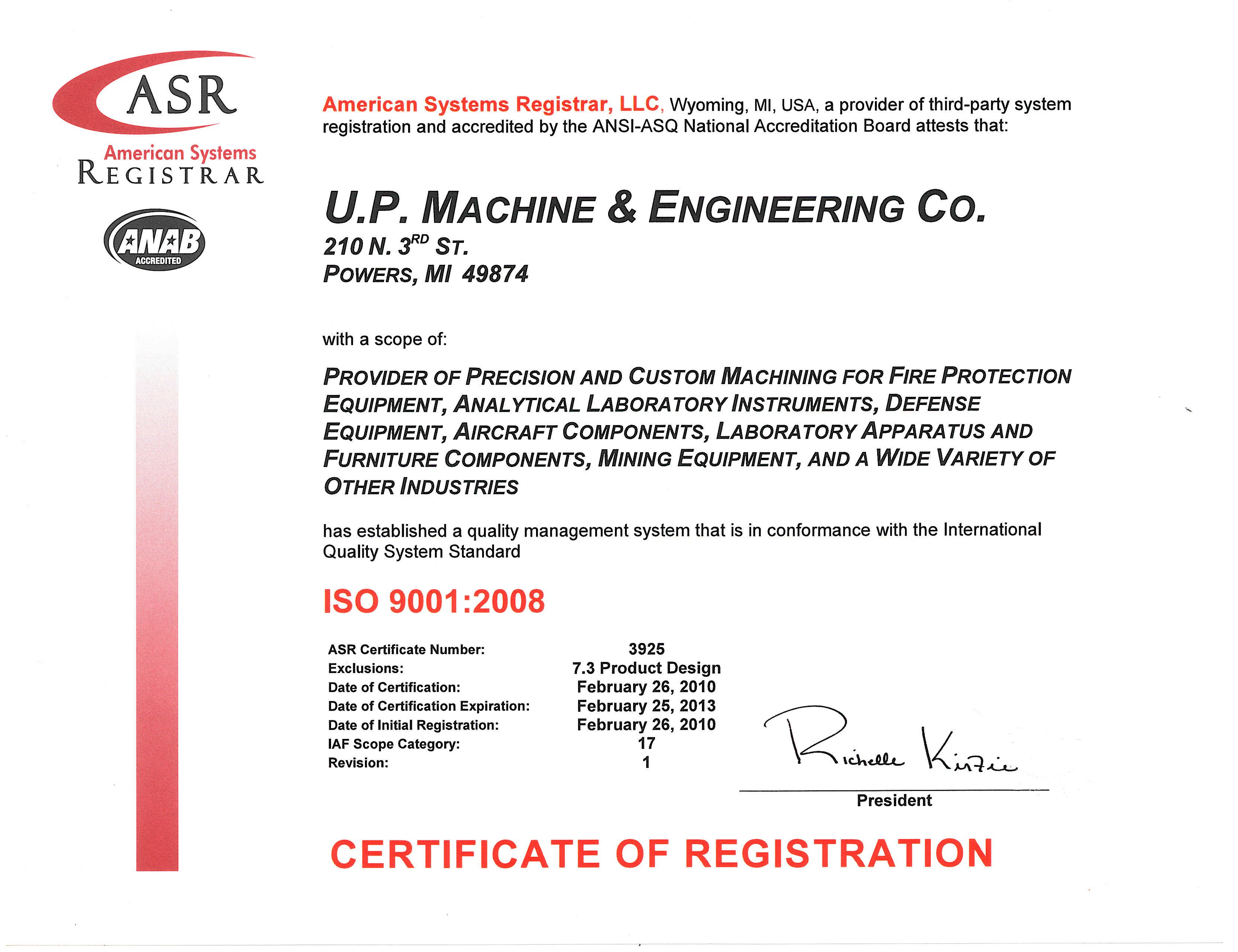 Up Machine Engineering Co Powers Michigan Mi 49874