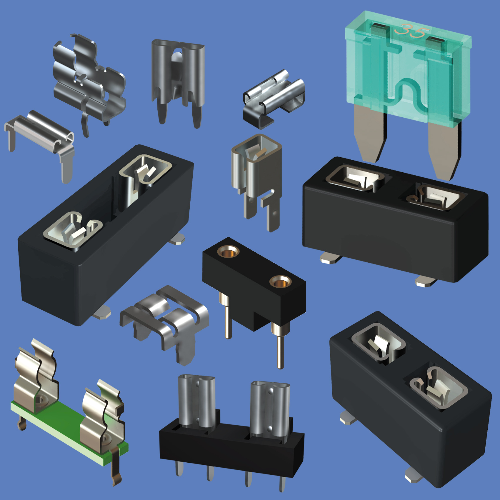 Keystone Electronics Corp New Hyde Park York Ny 11040 Printed Circuit Board Fuse Holders Clips And For Automotive Cylindrical Sub Miniature Fuses