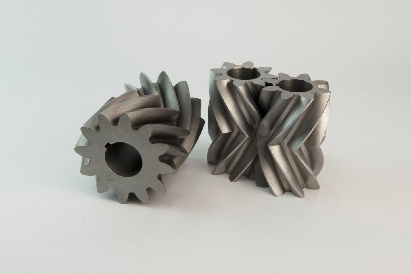 Herringbone gear pumps