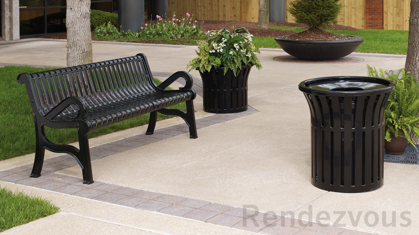 Marvelous Rendezvous Benches And Receptacles