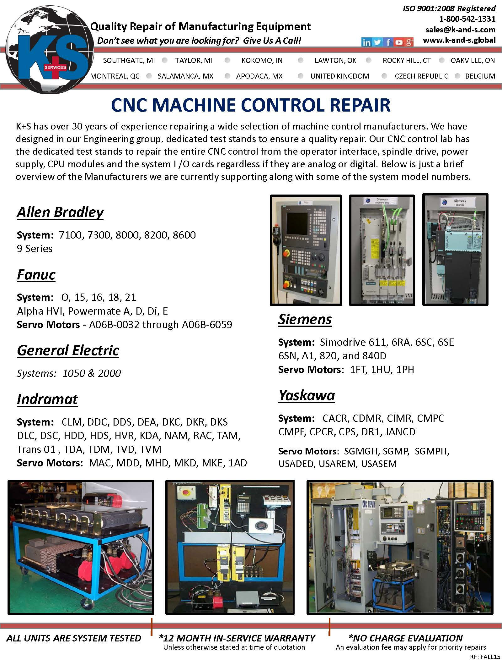 K S Services Inc Southgate Michigan Mi 48195 At Electronics Repair Center We Specialize In Industrial Cnc Machine Control
