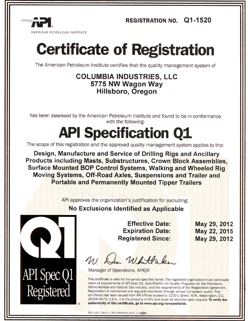 Api Spec Q1 Definition What Is Api Spec Q1 Find Api Spec Q1