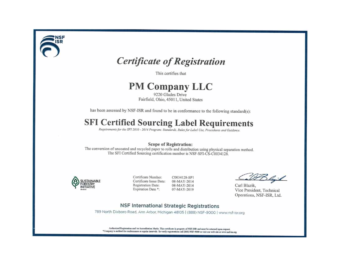 Sfi Certified Sourcing Label Requirements Definition What Is Sfi