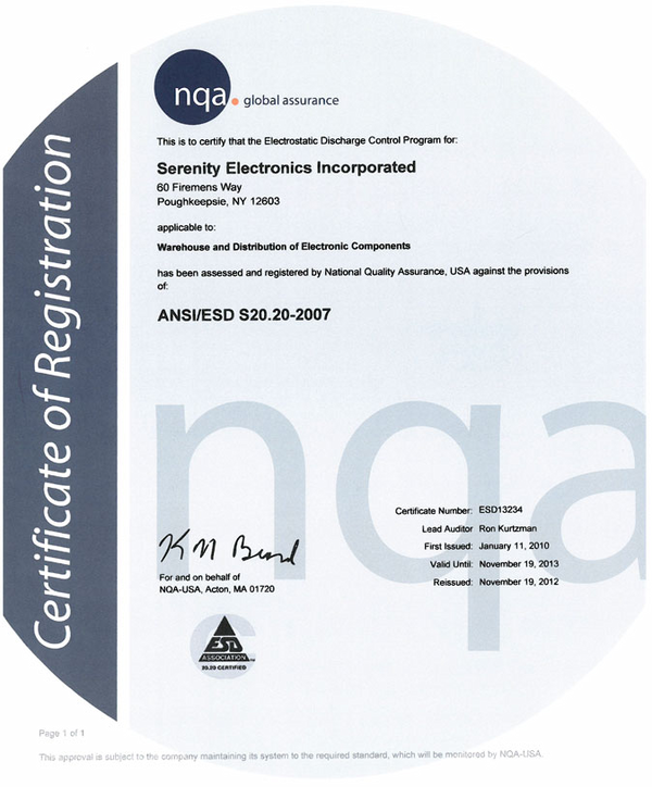Ansiesd S2020 2007 Certification Definition What Is Ansiesd S20