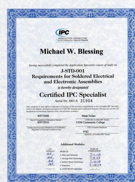 IPC J-STD-001 Certification Definition | What is IPC J-STD