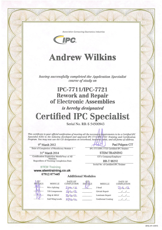 IPC-7711/7721 Certification Definition   What is IPC-7711/7721 ...