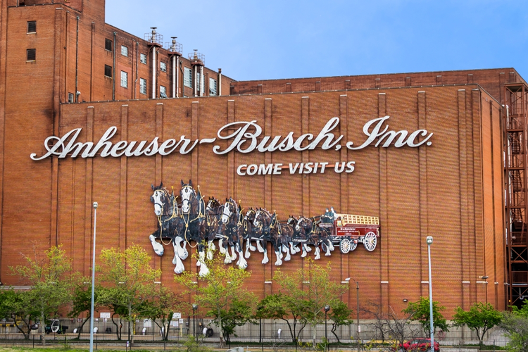 Anheuser-Busch Inc Brewery Building Sign
