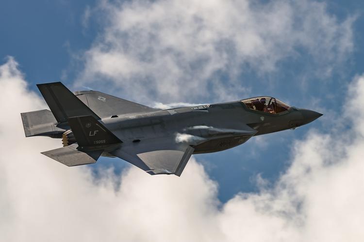 Lockheed Martin F-35 military jet in flight
