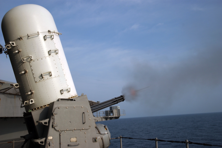 Aircraft carrier conducts weapons system live fire test