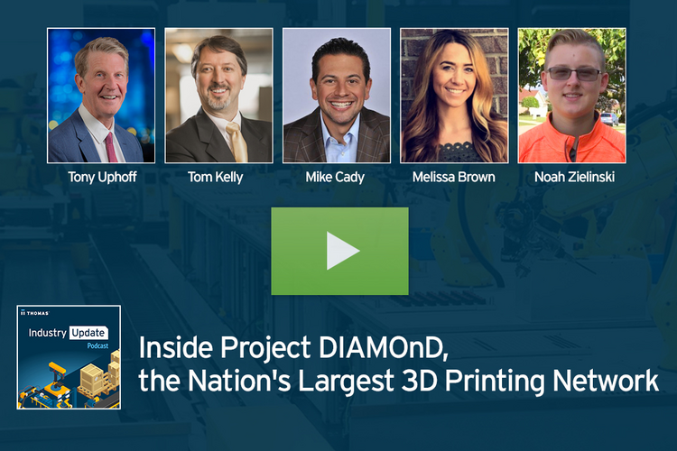 The Nation's Largest 3D Printing Network, Michigan-based Project DIAMOnD Showcases Industry-wide Collaboration
