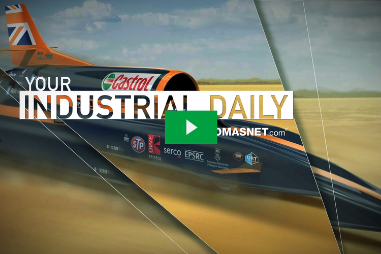 Bloodhound SuperSonic Car Shoots for 1,000 MPH