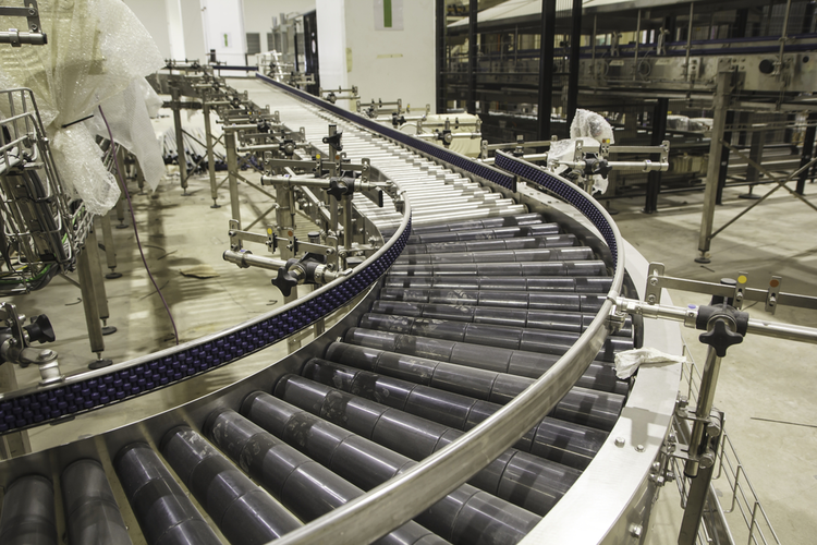 Industrial conveyor belt system