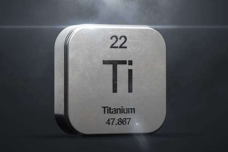 Titanium element from periodic table