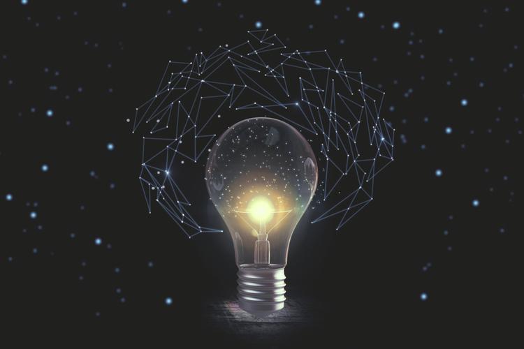 High-tech lightbulb