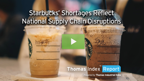 Out of Key Ingredients, Starbucks' Store Shortages Reflect National Supply Chain Disruptions