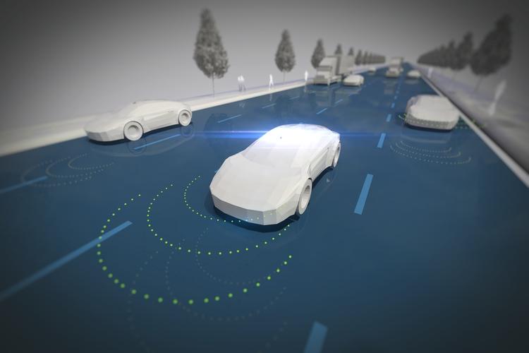 Autonomous vehicle concept.