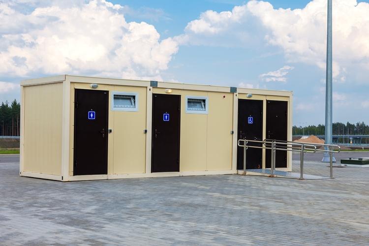 Modular restrooms.